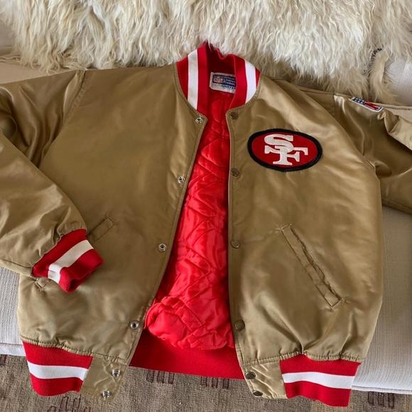reputable site 29426 f157e Vintage San Francisco 49ers Gold Bomber Jacket